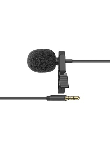 Snopy Sn-M20 Siyah Akıllı Telefon Ve Youtuber Metal Mandallı Yaka Mikrofonu Renkli